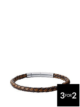 fossil-mens-brown-leather-cuff