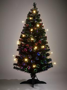 5ft Fibre Optic Christmas Tree With LED Candles Very Co Uk - Fibre Optic Christmas Tree Uk Only