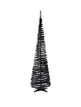 6ft pre lit pop up christmas tree black. Black Bedroom Furniture Sets. Home Design Ideas