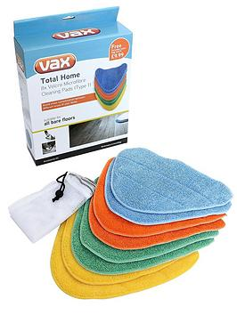 Vax Total Home Microfibre Cleaning Pads X8