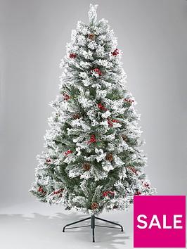 bavarian-pine-christmas-tree-with-snow-6ft