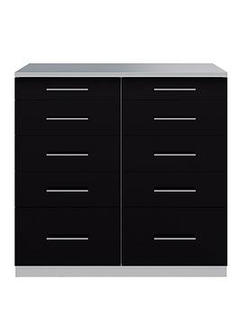 Cologne Gloss 5 + 5 Drawer Chest