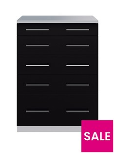 Cologne Gloss 5 drawer Chest of Drawers