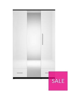 cologne-gloss-3-door-2-drawer-mirrored-wardrobe