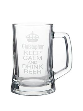 personalised-keep-calm-glass-tankard