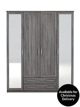 texas-4-door-2-drawer-mirrored-wardrobe