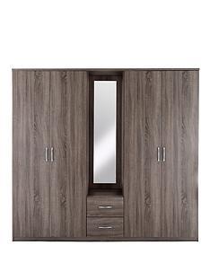 portland-4-door-2-drawer-combi-wardrobe