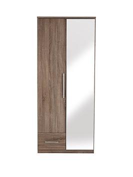 cologne-2-door-1-drawer-mirrored-wardrobe