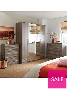 Cologne 2-Door, 1-Drawer Mirrored Wardrobe