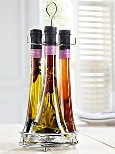 howarth-rose-chilli-oil-and-vinegar-trio-with-display-stand