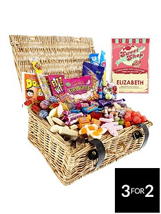 personalised-retro-sweet-hamper