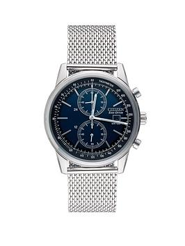 citizen-eco-drive-mesh-chronograph-bracelet-mens-watch