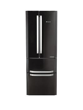 Hotpoint Ffu4Dk1 American Style, 70Cm Wide, Frost-Free Fridge Freezer - Black Best Price, Cheapest Prices