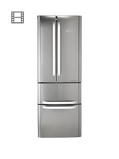 Hotpoint Day 1 FFU4DX American Style 70cm Frost Free Fridge Freezer, A+ Energy Rating - Stainless Steel Best Price, Cheapest Prices