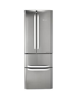 Hotpoint Ffu4Dx1 American Style 70Cm Wide Frost Free Fridge Freezer, A+ Energy Rating - Stainless Steel Best Price, Cheapest Prices