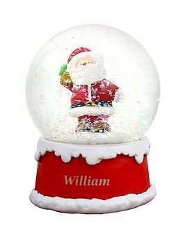 personalised-santa-snowglobe