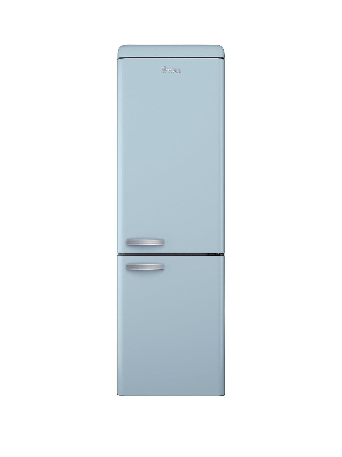 swan sr11020bln 60cm retro fridge freezer blue. Black Bedroom Furniture Sets. Home Design Ideas