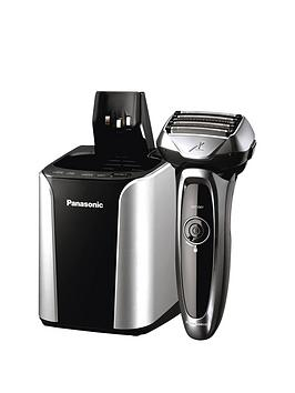 Panasonic Es-Lv95 5 Blade Cordless Wet And Dry Shaver With Self Cleaning And Charging System