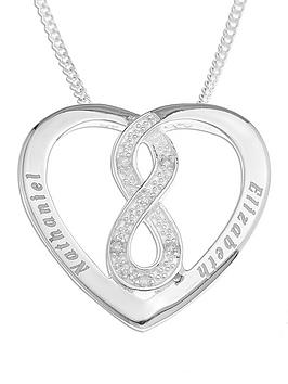 the-love-silver-collection-sterling-silver-personalised-diamond-set-infinity-heart-pendant