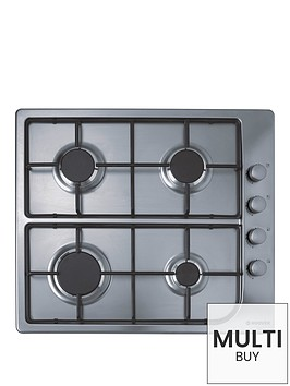 hoover-hgl64sx-60cm-built-in-gas-hob-stainless-steel