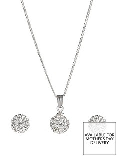 the-love-silver-collection-sterling-silver-crystal-ball-birthstone-set