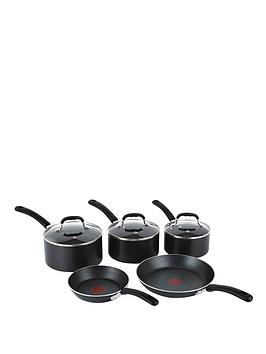 Tefal 5-Piece Ptfe Induction Pan Set - Black Review thumbnail