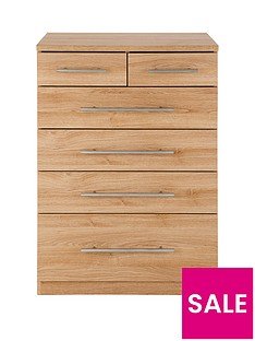 Prague 4 + 2 Graduated Chest of Drawers