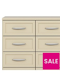 Oslo Wide 4 + 4 Graduated Chest of Drawers