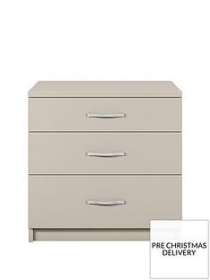 Peru 3 Drawer Bedside Cabinet