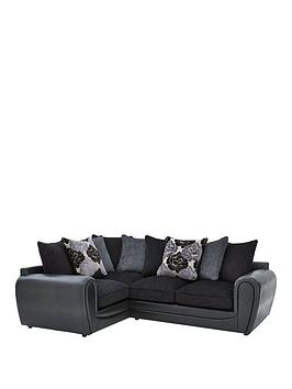 Monico Floral Left Hand Double Arm Corner Group Sofa
