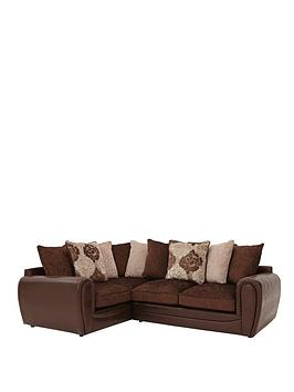 Photo of Monico floral left hand double arm corner group sofa