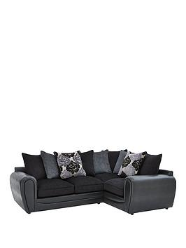 Photo of Monico right hand double arm scatter back corner group sofa