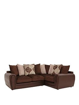 Photo of Monico floral right hand double arm corner group sofa