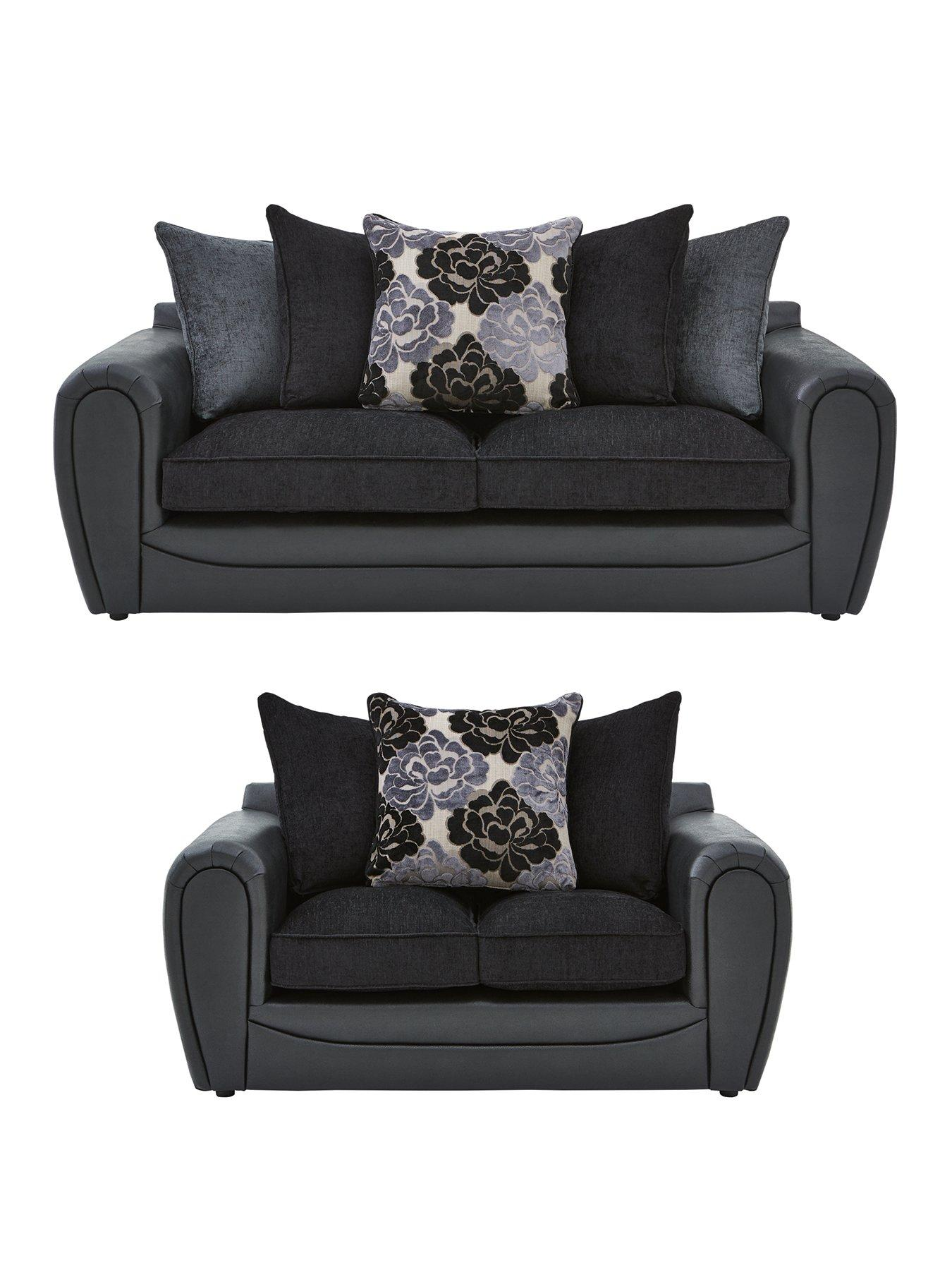 Monico 3 Seater 2 Seater Scatter Back Sofa Set Buy and SAVE