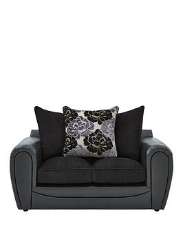 monico-floral-fabric-and-faux-snakeskin-2-seater-sofa