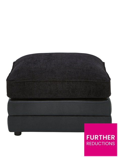monico-fabric-and-faux-snakeskin-footstool