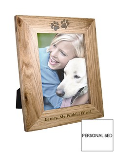 personalised-6x4-pet-print-wooden-photo-frame