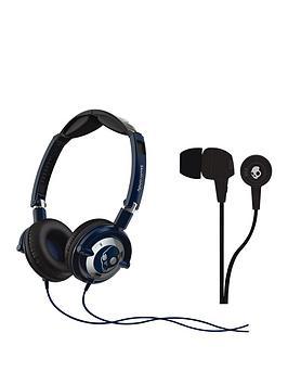 skullcandy-low-rider-headphones-with-free-in-ear-headphones-navy