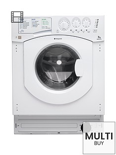 Hotpoint Aquarius BHWM1292 1200 Spin, 7kg Load Integrated Washing Machine - White