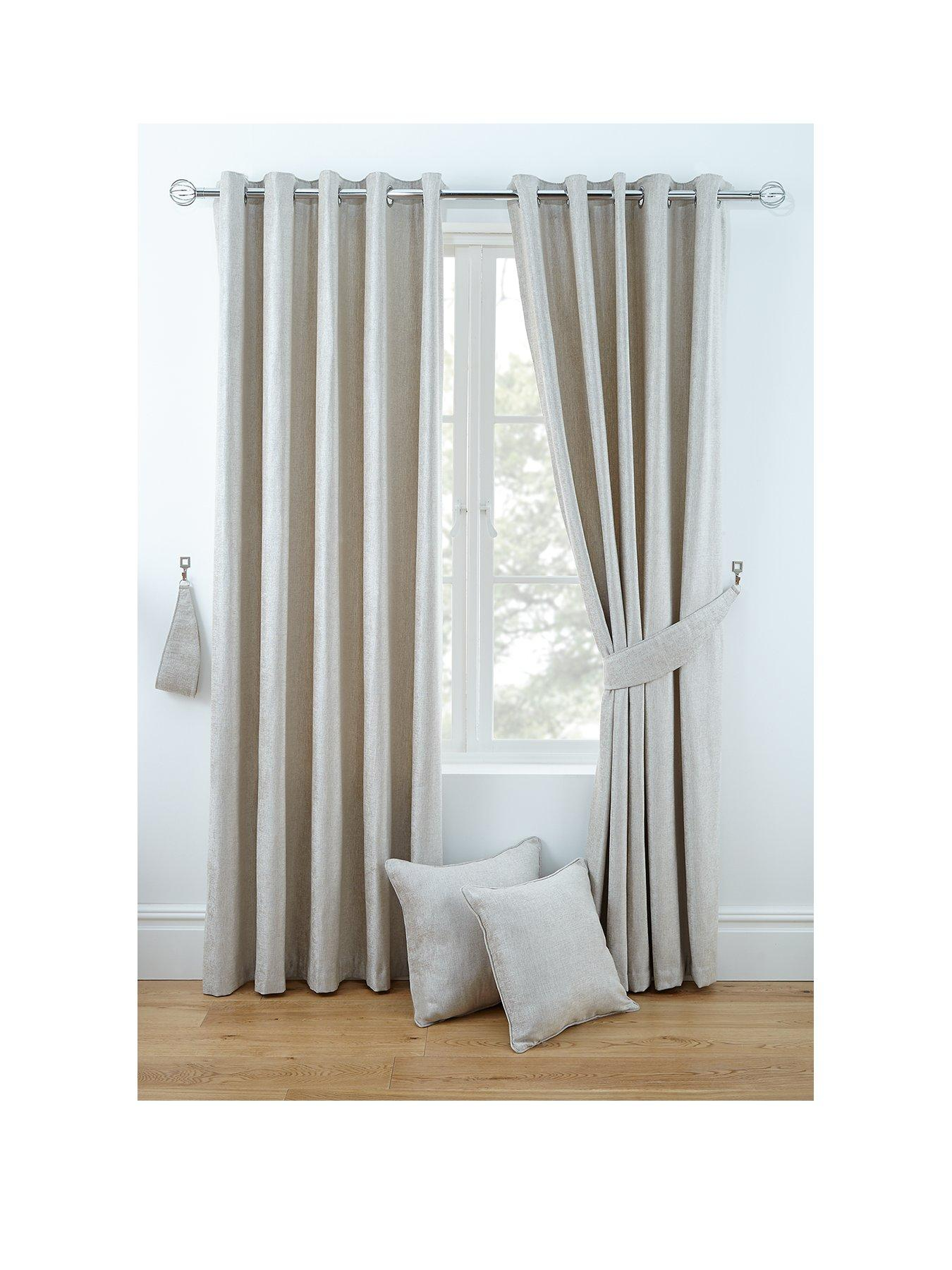 LUXURY CHENILLE LINED EYELET CURTAINS Part 33