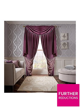 laurence-llewelyn-bowen-grande-finale-faux-silk-slot-top-lined-curtains
