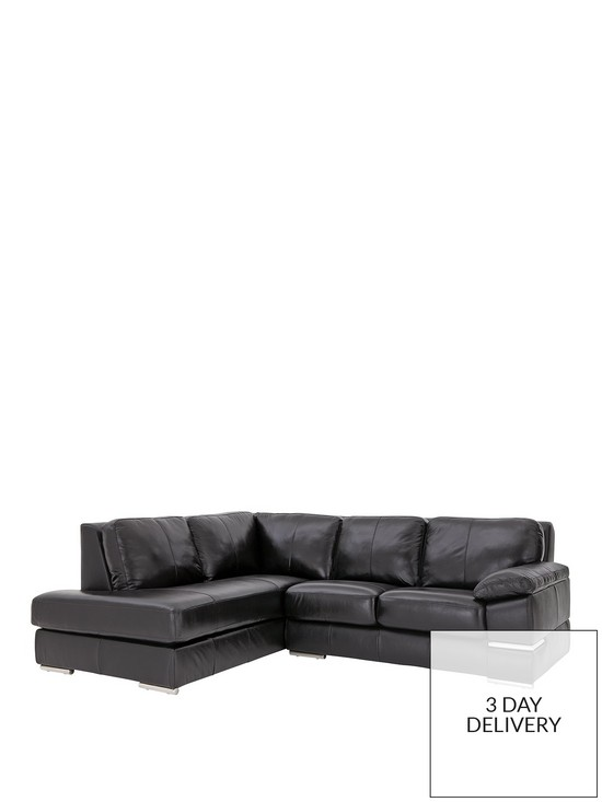 Primo Italian Leather Left Hand Corner Chaise Sofa