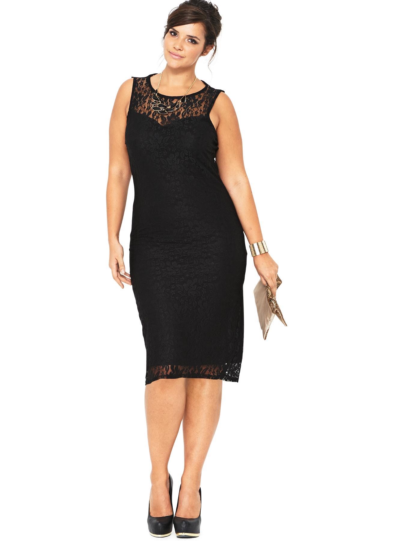 Black Lace Dress Size 14_Other dresses_dressesss