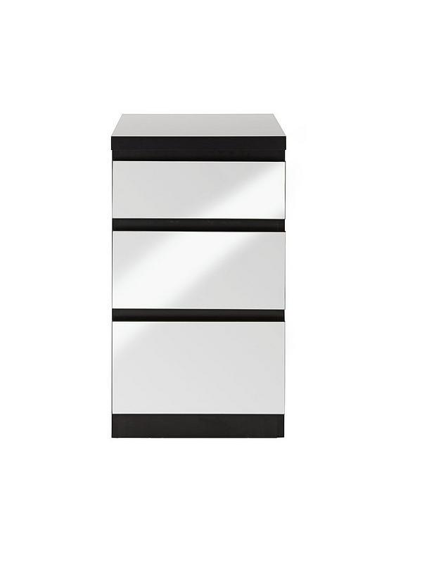 dcbec4d39817 Prague Mirror 3-Drawer Bedside Cabinet | very.co.uk