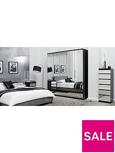 Prague Mirror 3-Drawer Bedside Cabinet