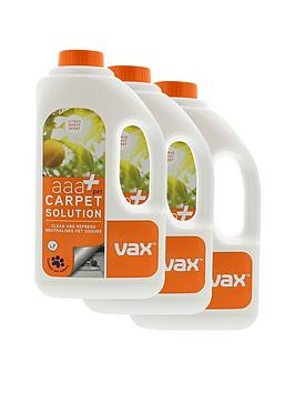 Vax Aaa+ Pet Carpet Cleaning Solution Triple Pack