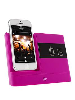kitsound-x-dock-2-8-pin-lightning-connector-clock-radio-dock-for-iphone-5-pink