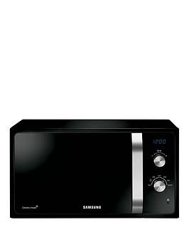 Photo of Samsung ms23f301eak 23-litre- 800-watt solo microwave with ceramic enamel interior - black