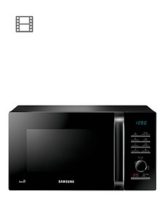 samsung-ms23h3125akeu-23-litre-800-watt-solo-microwave-with-smart-humidity-sensor-technology-black