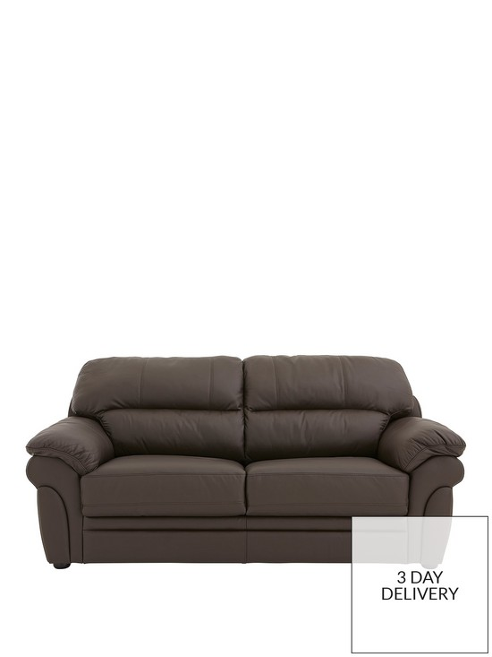 Portland Leather Sofa Bed | very.co.uk